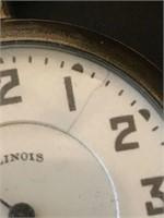 Illinois Open Face Antique Pocket Watch