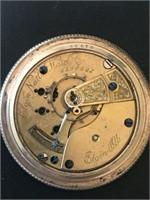 Elgin Open Face Antique Pocket Watch