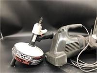 Rigid Quick spin auger, and Black & Decker dirt