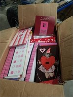 Large box of Valentine's cards