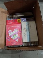 Small box of Valentine's cards