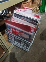 Box of holiday bags