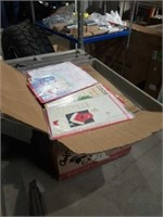 Box of Christmas gift cards