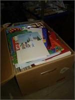 Box of Christmas cards banker's box