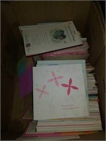 Half box of miscellaneous cards ons