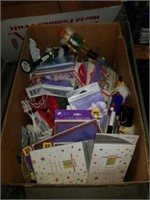 Box of knickknacks and cards