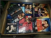 Huge box of DVDs Blu-rays