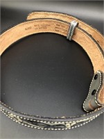 2 Leather belts-one size 48 inches and the other