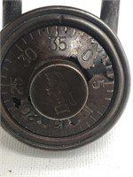 Vintage Dudley Combination Lock with Combo. Works