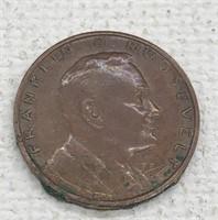 FRANKLIN D ROOSEVELT 1 CENT PLAY MONEY COIN