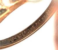 Three vintage rings marked Sterling