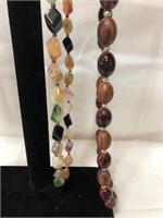 4 vintage beaded costume jewelry necklaces