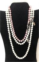 3 Kissaka beaded costume jewelry necklaces