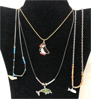 Vintage costume jewelry necklaces animal themed