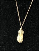 Vintage costume jewelry peanut necklace