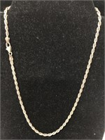 Silver necklace marked 925