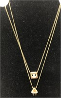 2 friendship necklaces that are a plug-in and an