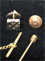 Lot of vintage tie & cuff links items