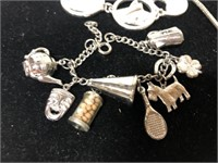 Lot of 3 charm bracelets costume jewelry