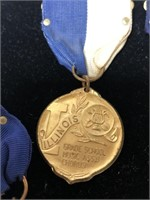 Vintage medals and pins