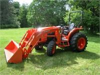 Kubota L4060HST Tractor with LA1055 Loader, 446 Hrs