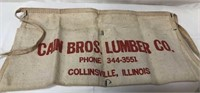 Vintage Cain Bros Lumber Collinsville nail apron