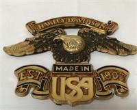 Metal Harley Davidson badge