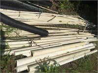 Lot of Assorted PVC Pipes & Flex Pipes