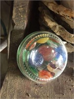 Lot of Building Stars & Paperweight w/marbles