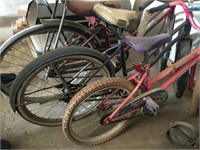 Lot of Three Children's Bicycles