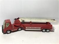 Vintage metal Nylint hook & ladder fire truck