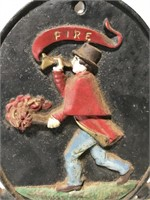 Cast iron No Smoking plaque sign