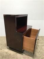 Vintage 1940's cherrywood night stand w/ drawer