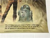 Vintage Star Wars 1980 Coca Cola Co poster