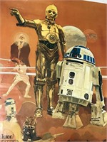 Two 1977 Star Wars Cocoa Cola Burger Chef posters
