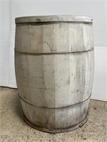 Vintage genuine XL wooden barrel