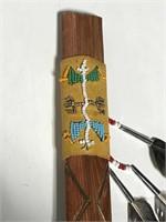 Tribal ceremonial peace pipe w/ Catlinite bowl