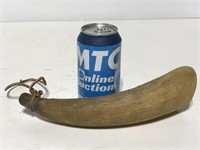 Old cow powder horn
