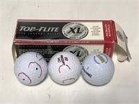 Collection of new and used golf balls