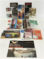 Collection of vintage CB radio brochures