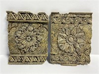 Cast resin stone flower wall hanging decor
