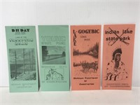 Collection of 1960's Michigan State Park brochures