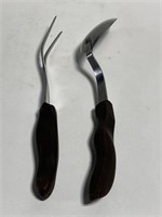 Lot of 2 large cutco stainless serving utensils