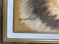 Original DE Stribley roaring 20's woman art