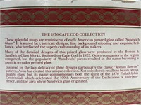 Avon 1876 cape cod red glass pedestal mugs