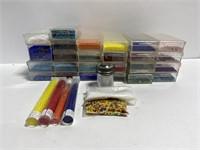 Lot of mini seed bead jewelry supplies
