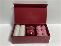 PartyLite rose candle box set