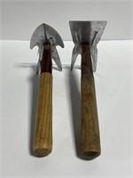 Lot of 2 multipurpose garden hand tools