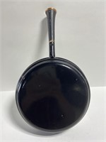 Black & white wood handled fry pan