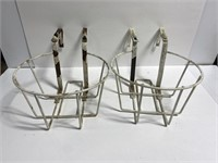 Lot of 4 wire planter baskets